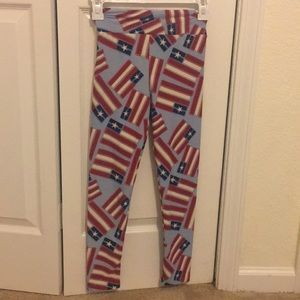 American flag super soft Lularoe leggings